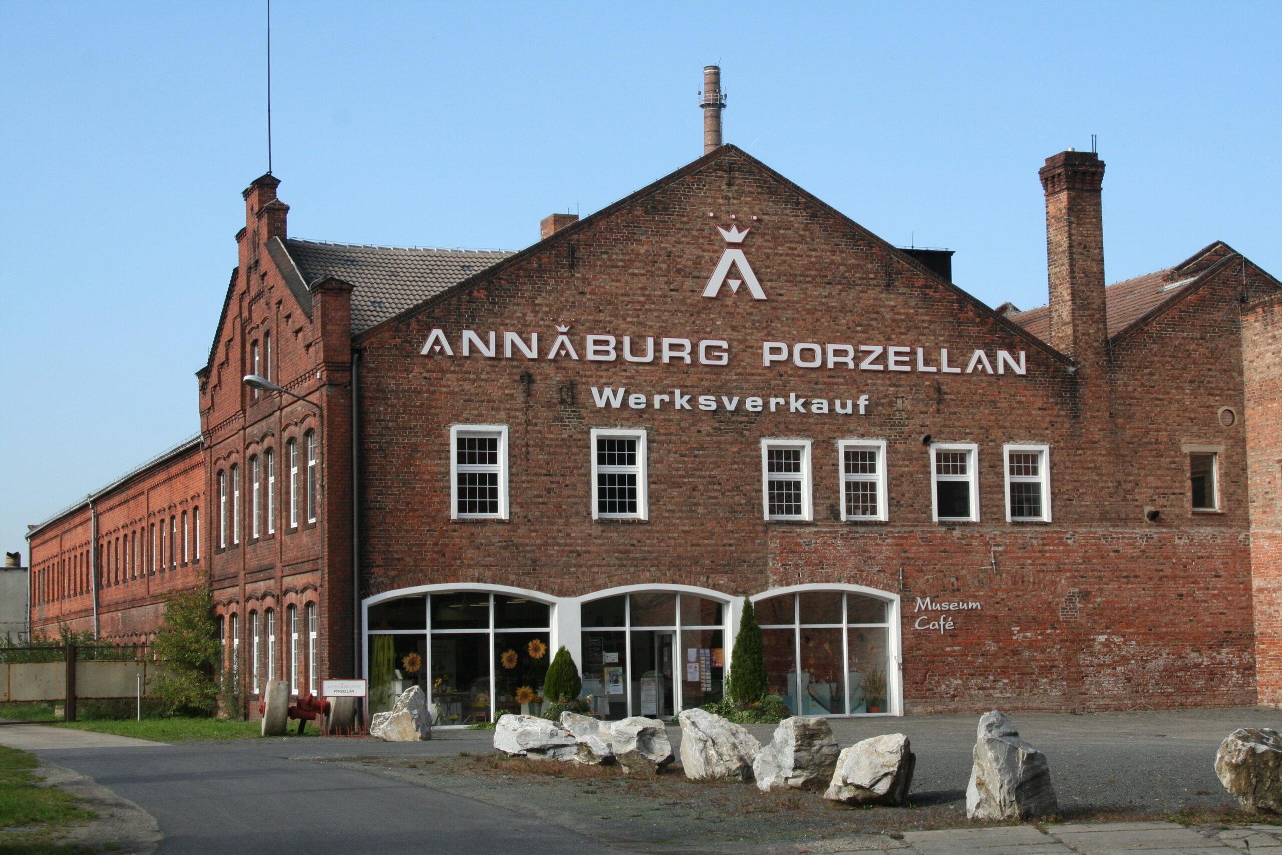 Eingangsansicht des Porzellaneum in Annaburg