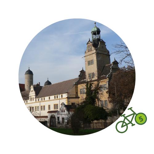 Punkt5 am Zweistromweg Renaissanceschloss Lichtenburg in Prettin Eingang zum Schlossmuseum