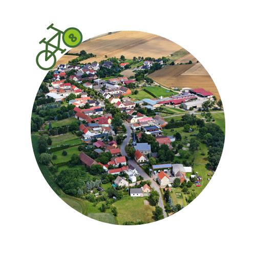 Punkt8 am Zweistromweg Luftbild von Bethau