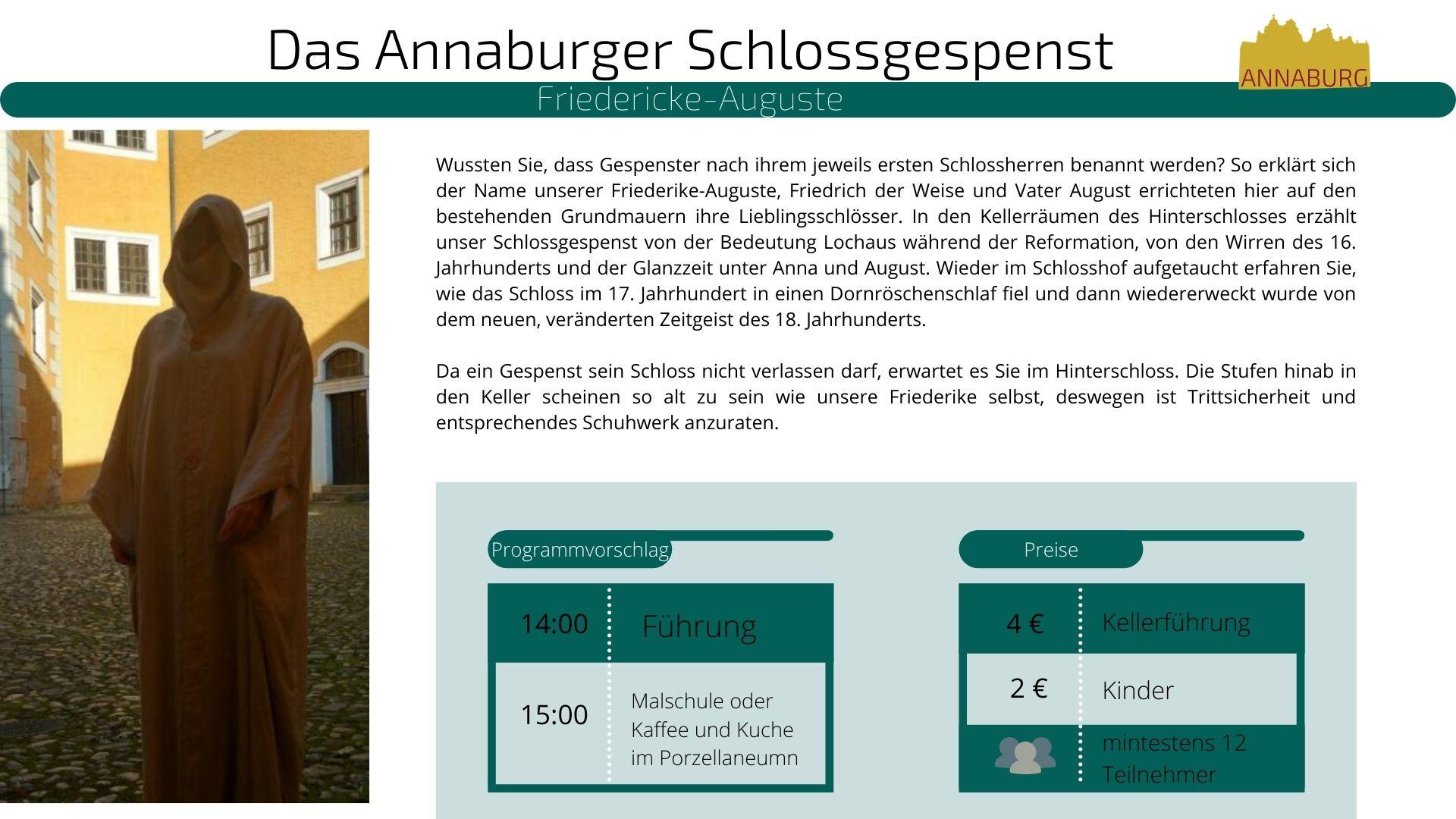 Angaben zur Führung des Annaburger Schlossgespenst