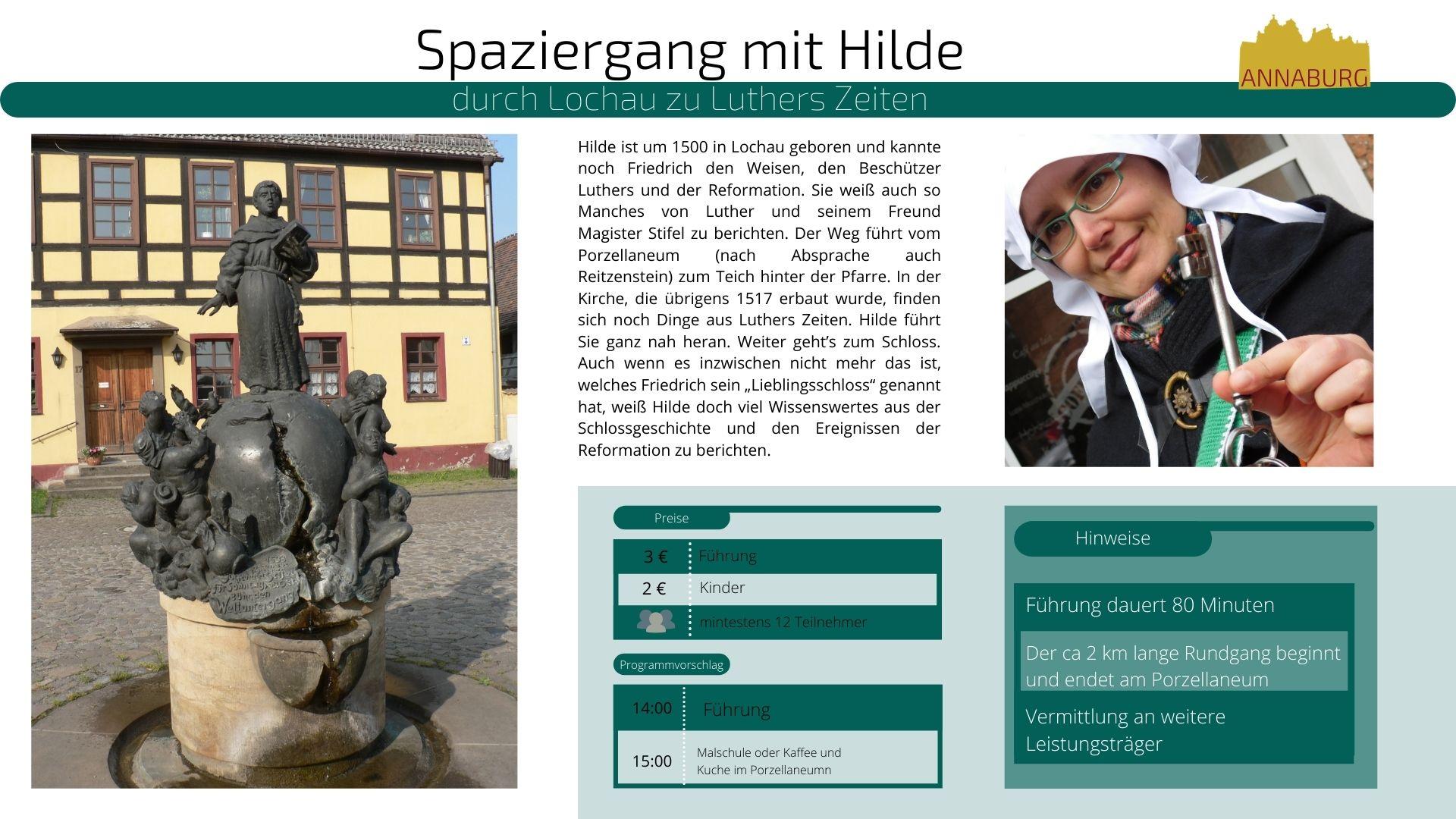 Angaben zur Fürung: Stadtspaziergang mit Hilde