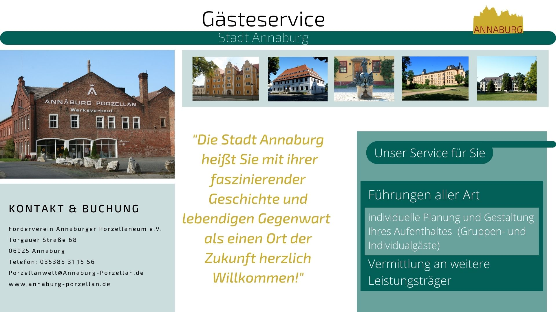 Angaben zum Gästeservice