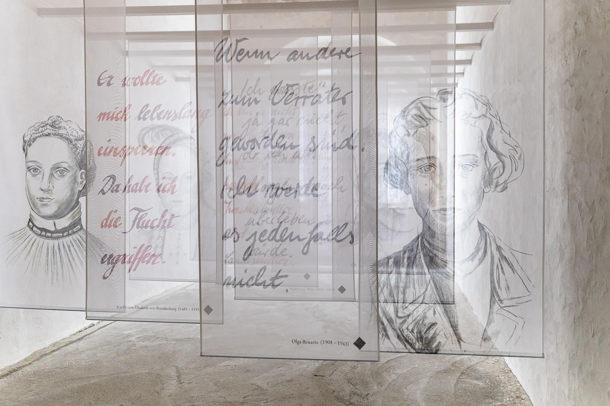 Kunstinstallation in den Frauengemächern